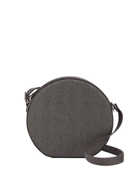 Brunello Cucinelli Round Chevron Monili Crossbody Bag