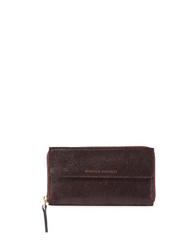 Textured Continental Wallet