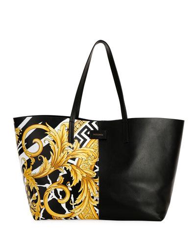 Savage Barocco Leather Tote Bag