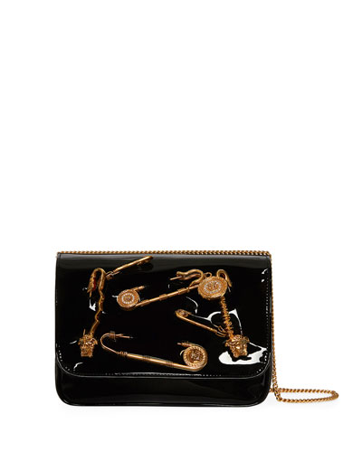 Safety Pin Patent Crossbody Bag