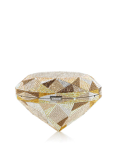 Diamond Canary Crystal Clutch Bag