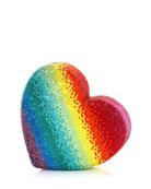Judith Leiber Couture Heart Rainbow Clutch Bag