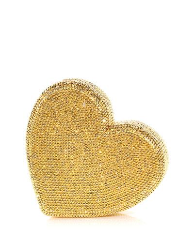 Heart Fully Beaded Clutch Bag