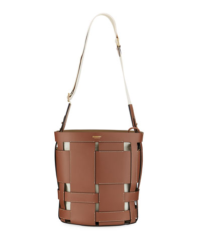 Foster Woven Smooth Bucket Bag
