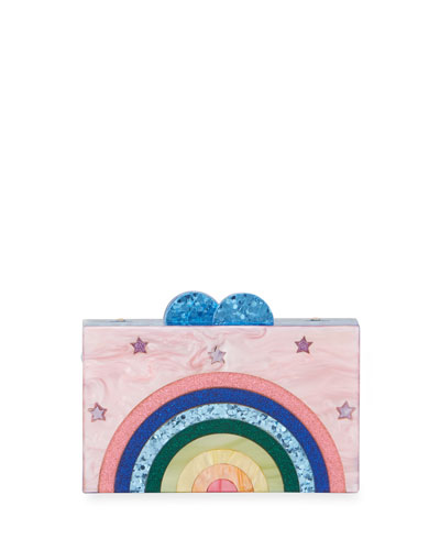 Girls' Happy Rainbow Box Clutch Bag