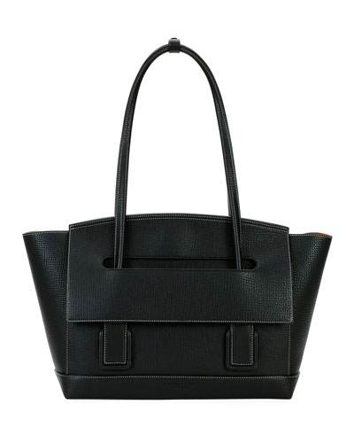 Arco 48 Palmellato Leather Top-Handle Bag