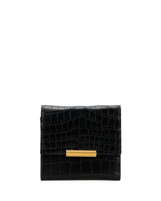 Mini Soft Alligator Flap Wallet