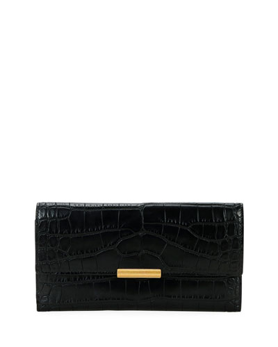 Soft Alligator Flap Continental Wallet