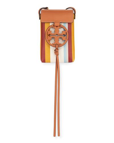 Miller Striped Phone Crossbody Bag