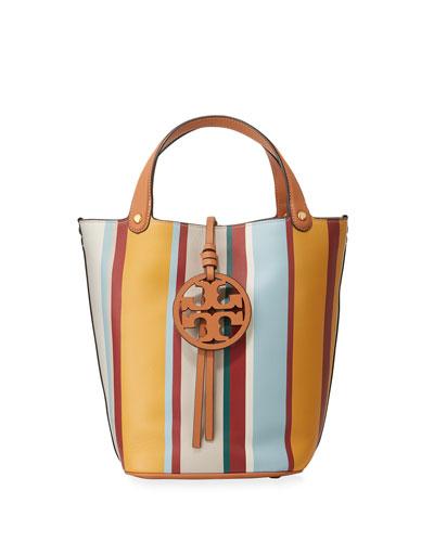 Miller Striped Bucket Bag