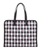 kate spade new york nylon check xl tote