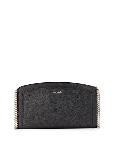 east west small leather crossbody bag