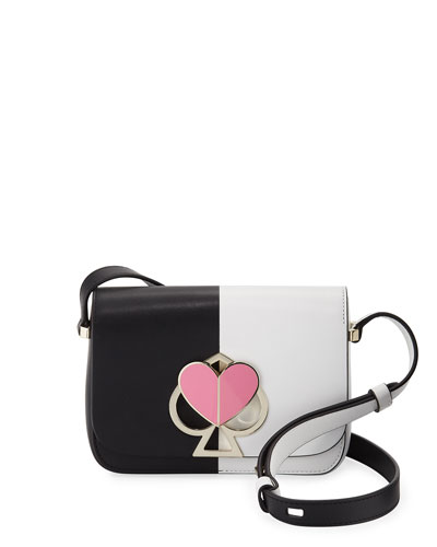 two-tone small leather shoulder bag