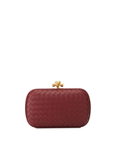 Medium Napa Chain Knot Clutch Bag