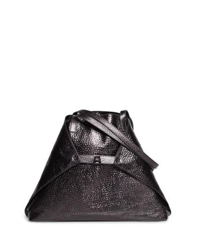 Al Medium Soft Hammered Leather Shoulder Bag