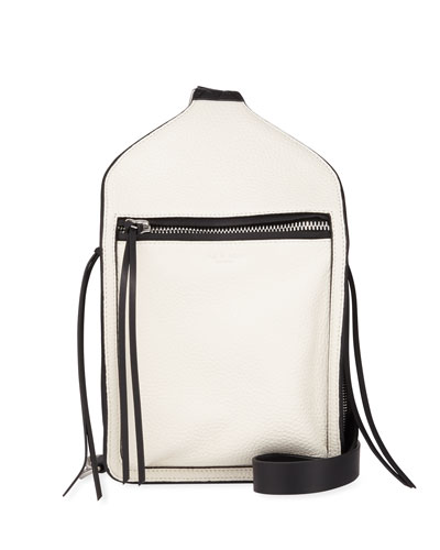 Elliot Large Leather Belt Bag, White