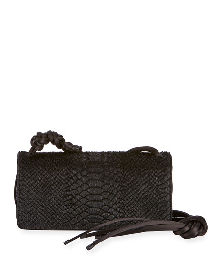 Dries Van Noten Snake-Embossed Shoulder Bag