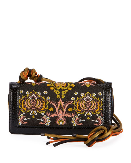 Dries Van Noten Jacquard Flap Shoulder Bag