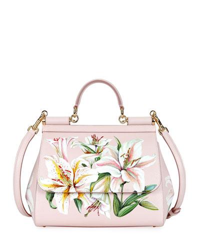 Sicily Medium Lilium Top-Handle Bag