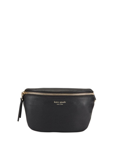 polly medium leather belt bag