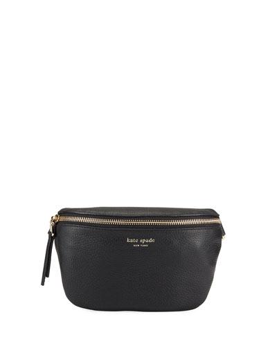 polly medium leather belt bag