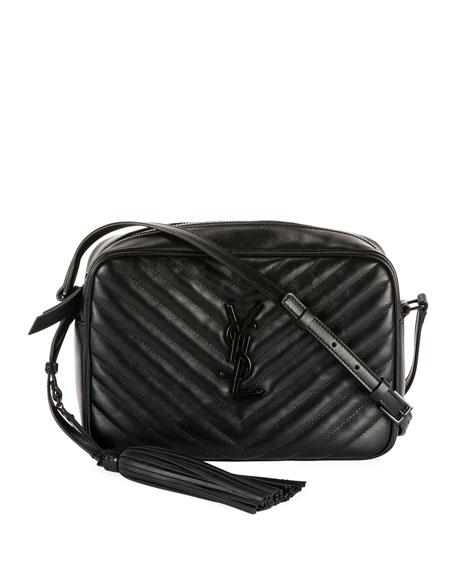 Saint Laurent Lou Medium Monogram YSL Calf Crossbody Bag