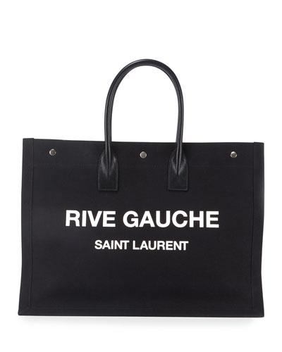 Rive Gauche Cabas Canvas Tote Bag