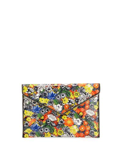 Leo Floral Envelope Clutch Bag