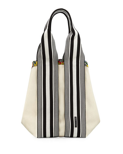 Fan Reversible Canvas Tote Bag