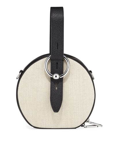 Kate Canvas Circle Top Handle Bag