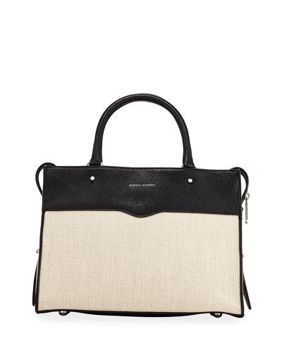 Bedford Zip Linen Satchel Bag