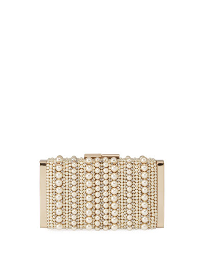 J Box Pearly Box Clutch Bag