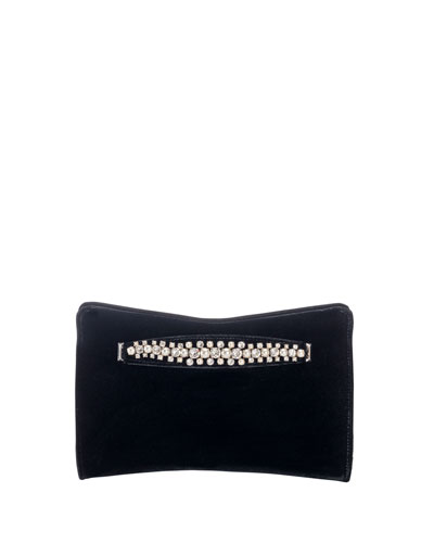 Venus Velvet and Pearly Bracelet Clutch Bag