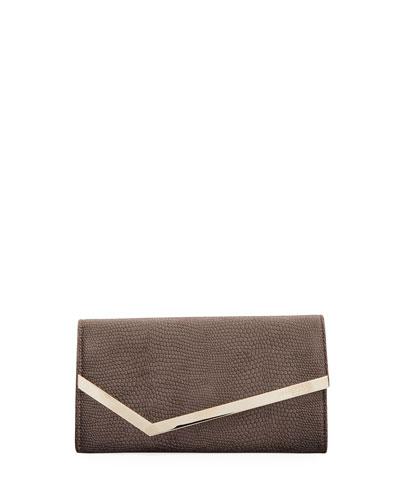 Emmie Lizard-Velvet Clutch Bag
