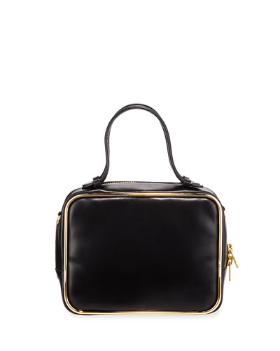 Halo Leather Top-Handle Satchel Bag