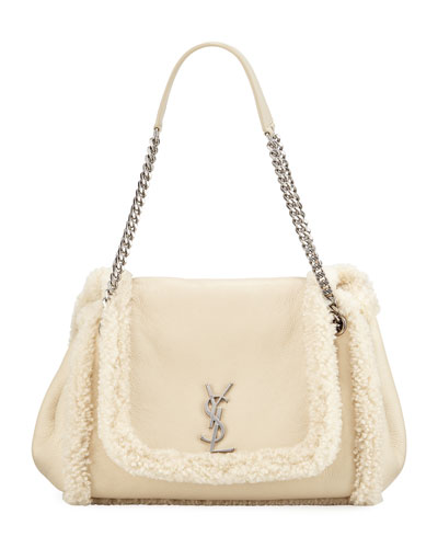Nolita Medium YSL Shearling Shoulder Bag