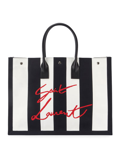 Cabas Striped Tote Bag
