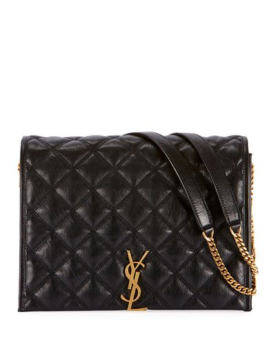 Becky Small Monogram YSL Quilted Shoulder Bag
