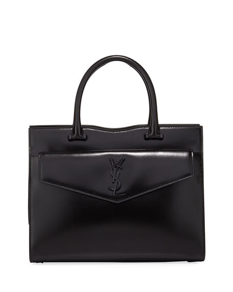 Saint Laurent Uptown Medium YSL Leather Tote Bag