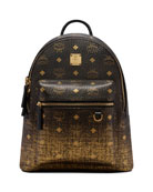 MCM Stark Gradation Visetos Canvas Backpack