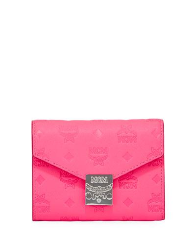 Patricia Monogrammed Flap Wallet