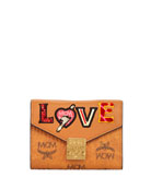 MCM Patricia Love Patchwork Wallet