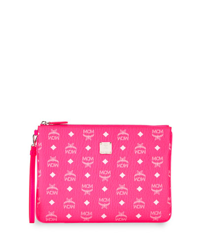 Visetos Original Neon Zip-Top Clutch Bag