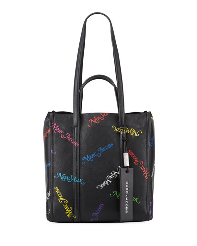 x New York Magazine The Tag Logo Leather Tote Bag