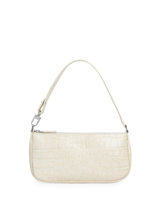 Rachel Small Croc-Embossed Shoulder Bag