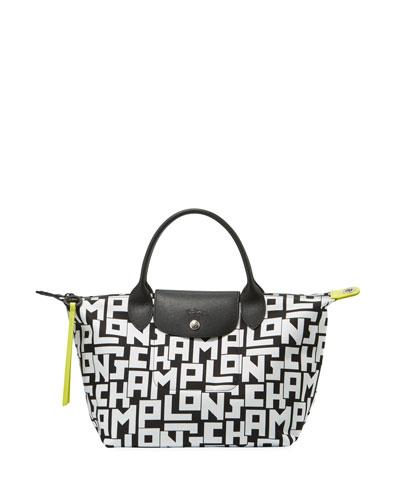 Le Pliage LGP Large Tote Bag, Black/White