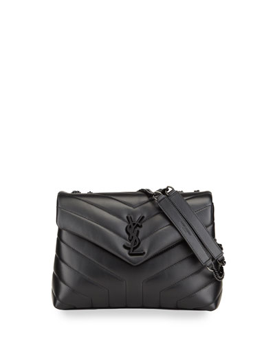 Loulou Small Monogram Matelasse Calfskin Shoulder Bag