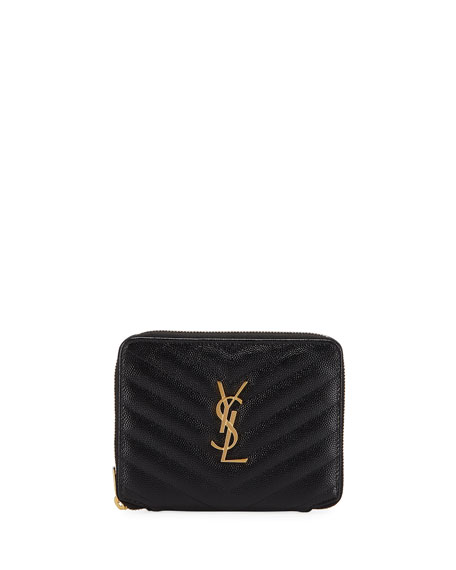 Saint Laurent Monogramme Small Zip-Around Wallet