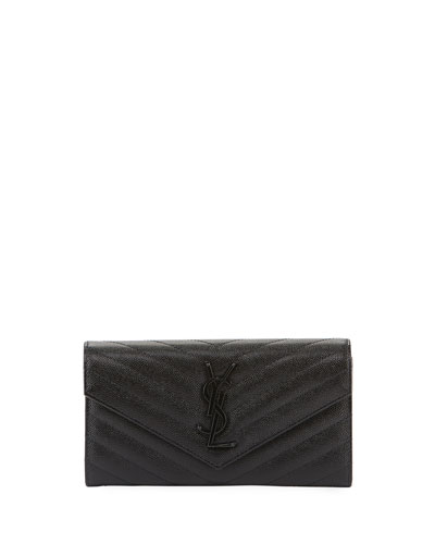 YSL Logo Medallion Continental Wallet
