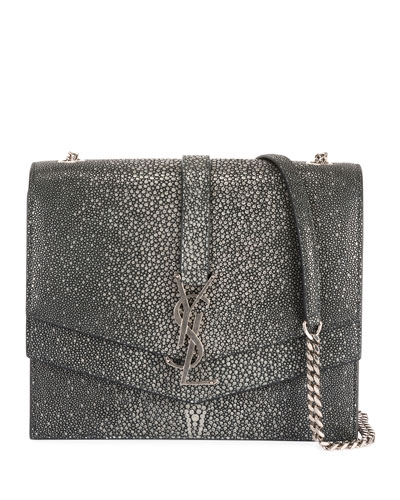 Suplice YSL Monogram Double-Flap Shoulder Bag